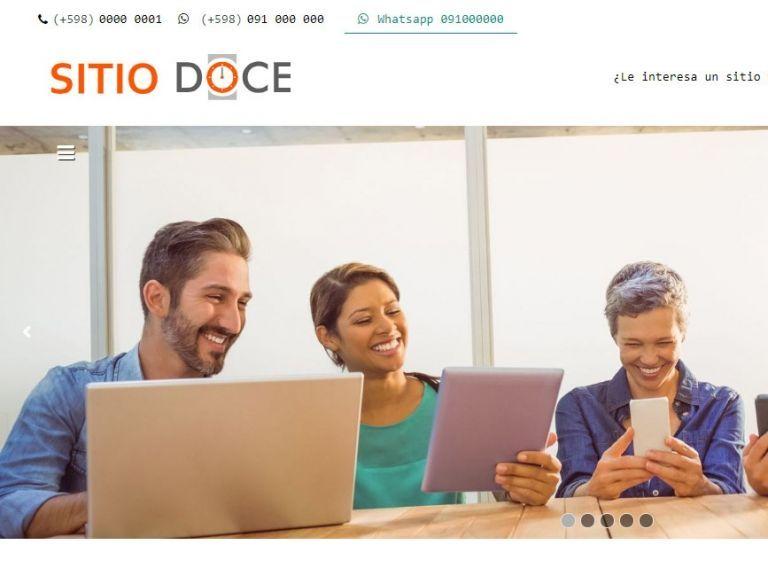 Ejemplo de diseño web para sitio institucional demo 12. - INSTITUCIONAL 12 . Diseño sitio web institucional