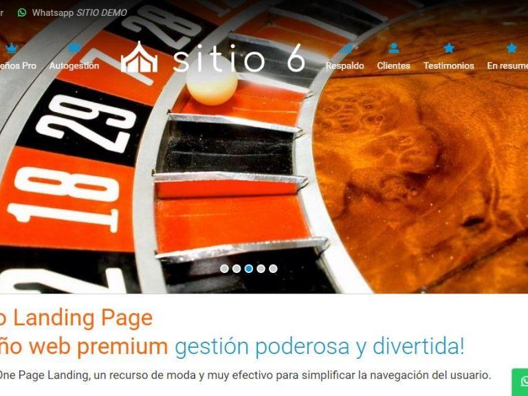 LANDING 6 . Diseño web landing page