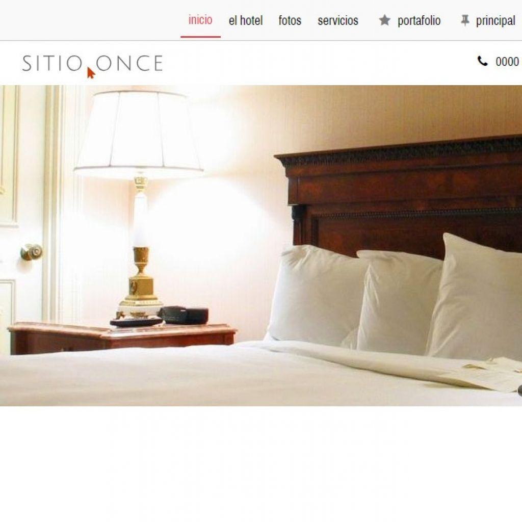 Demo 11 de diseño template de sitio web institucional. Página web profesional autogestionable.
