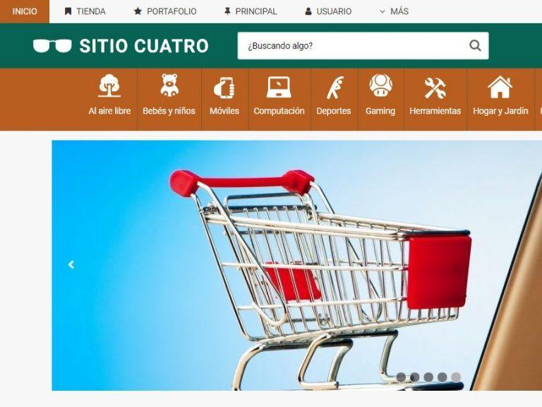 Plantilla de diseño demo4 para iniciar su tienda virtual con ecommerce. - TIENDA 4 . tienda virtual