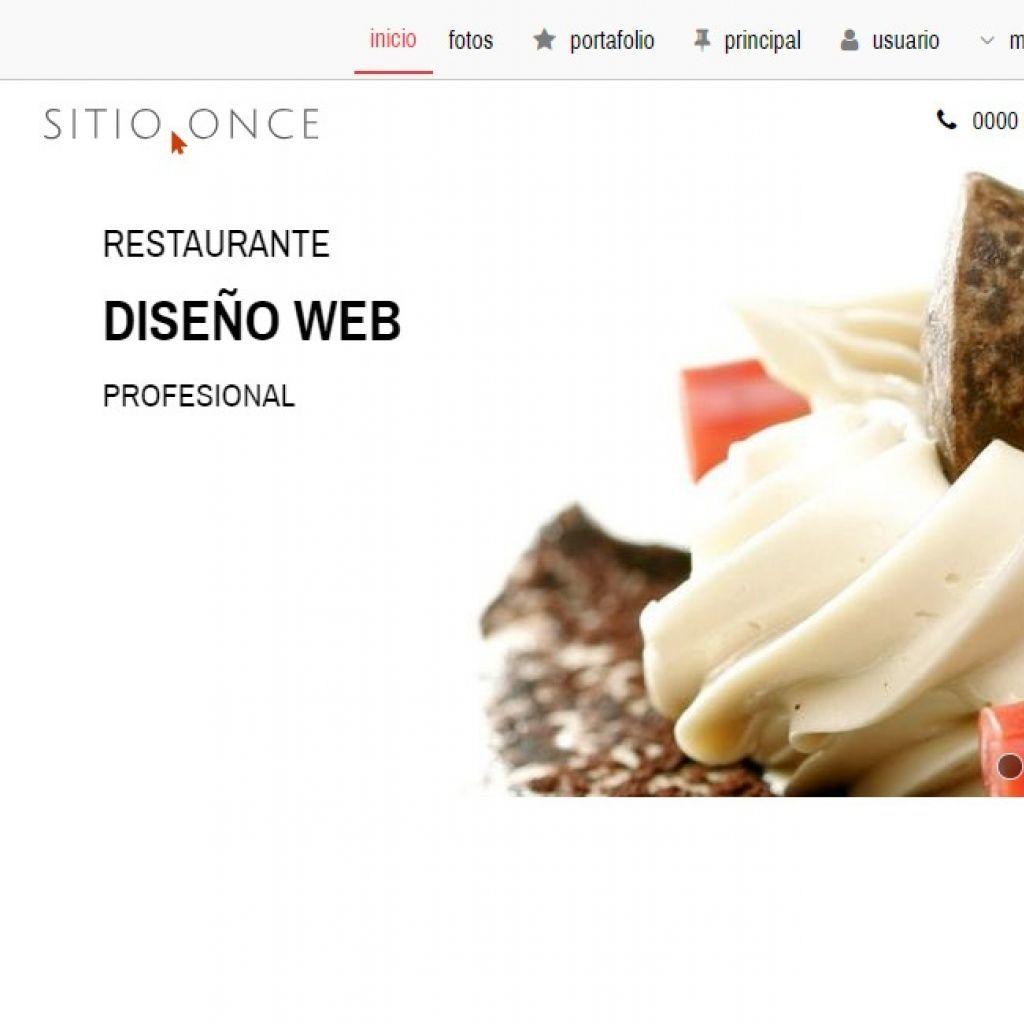 Diseño ejemplo de sitio restaurante.