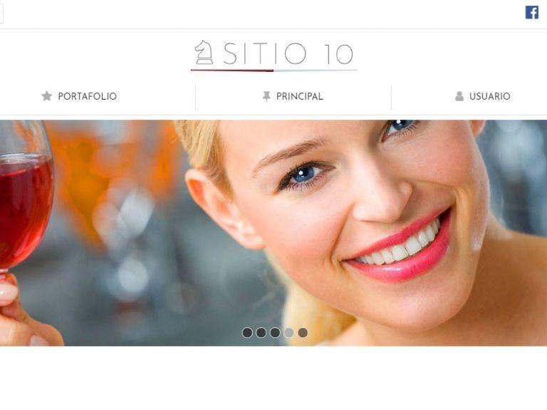 Template de diseño web para restaurante con autogestión de contenidos. - RESTAURANTE 10 . Diseño sitio web institucional