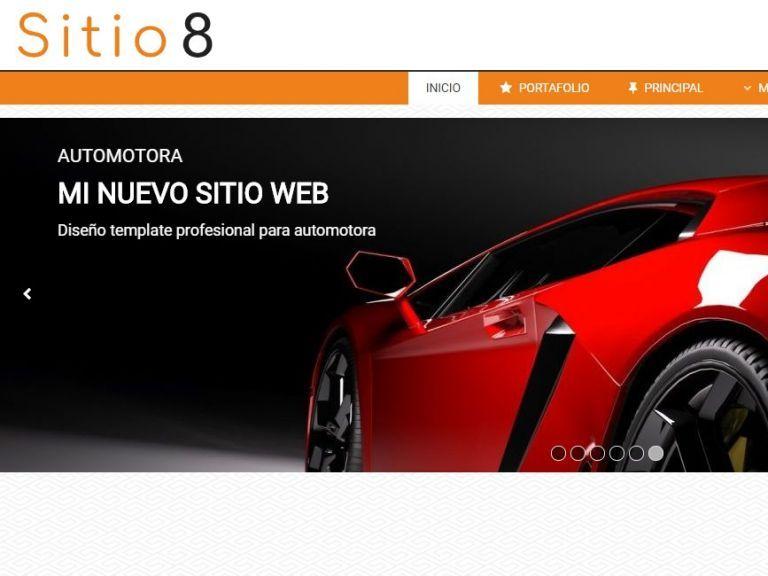 Ejemplo de diseño para armado de sitio web de automotora. - AUTOS 8 . Diseño sitio web automotora rentadora