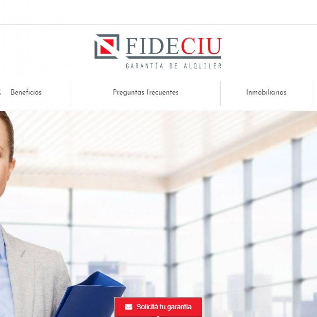 FIDECIU garantía inmobiliaria web