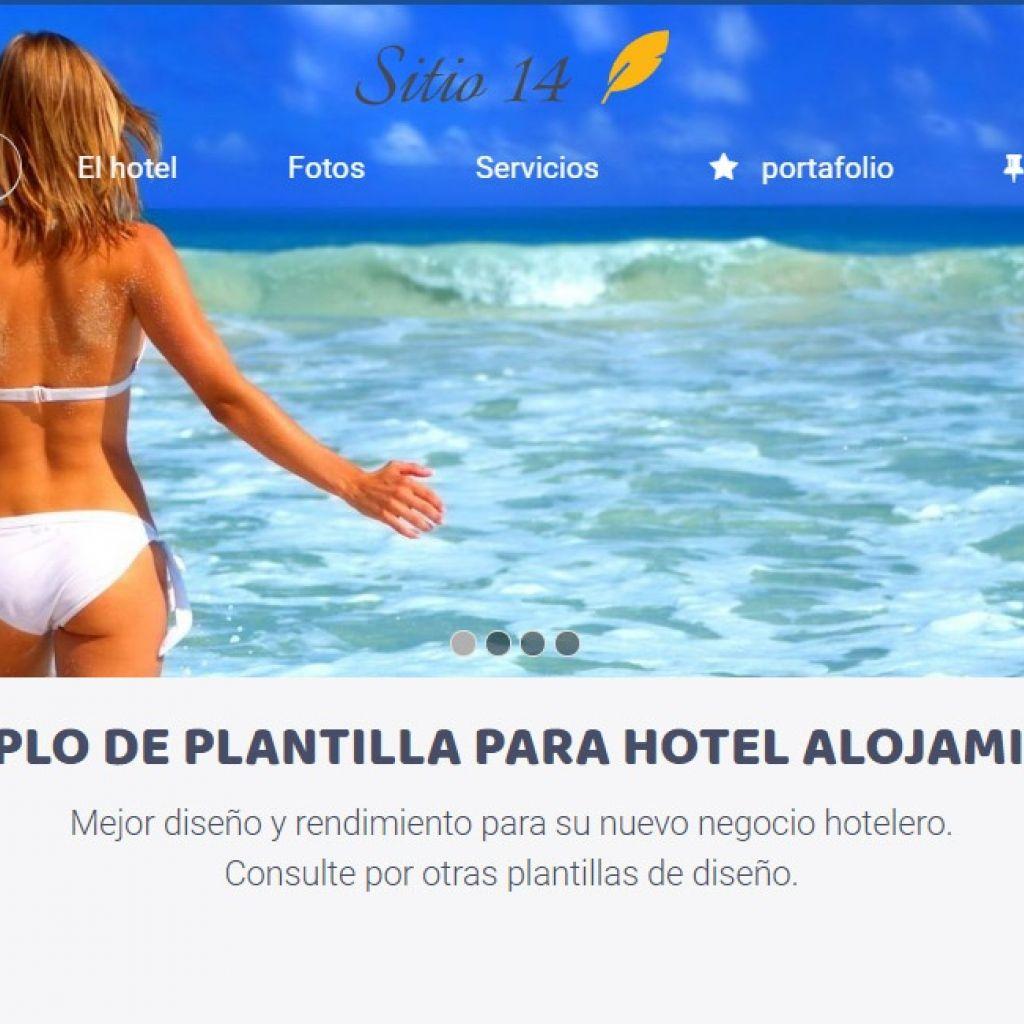Página web ejemplo para diseñar sitio de hotel.