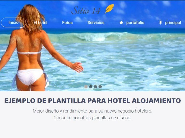 Página web ejemplo para diseñar sitio de hotel. - HOTEL 14 . Sitio web hotel alojamiento