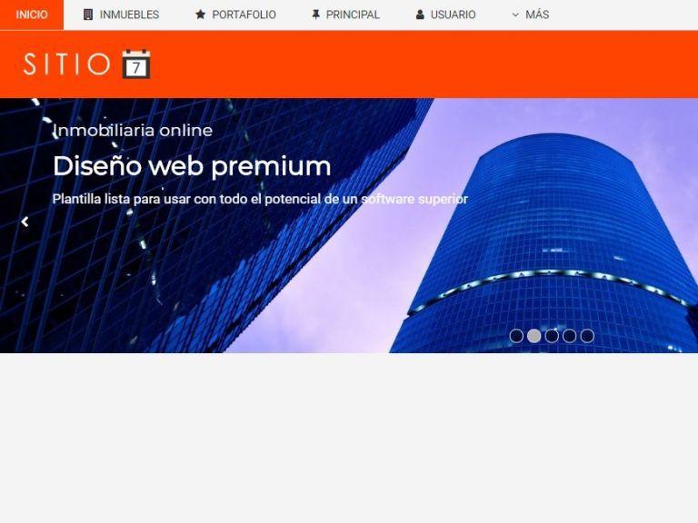 Plantilla 6 de diseño web profesional para inmobiliaria. - DEMO 7 . Sitio web inmobiliario