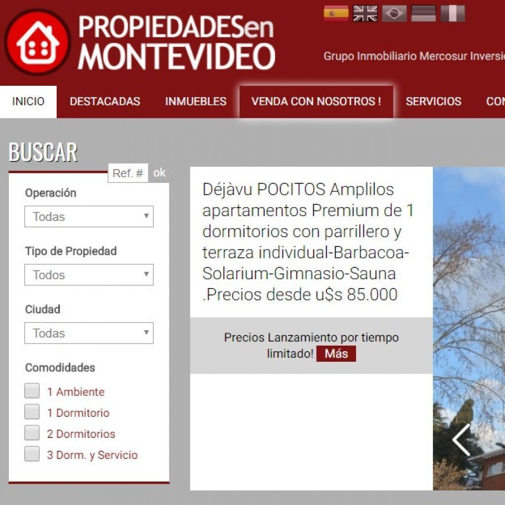 Propiedades en Montevideo. Proyecto del Grupo Inmobiliario Mercosur Inversiones.