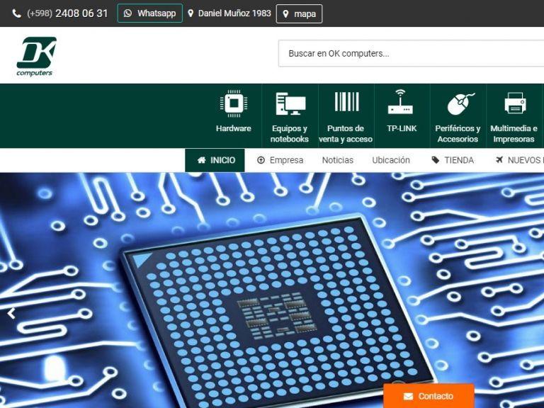 Diseño de sitio web tienda de venta de hardware y productos de computación, con calidad profesional. - ok computers