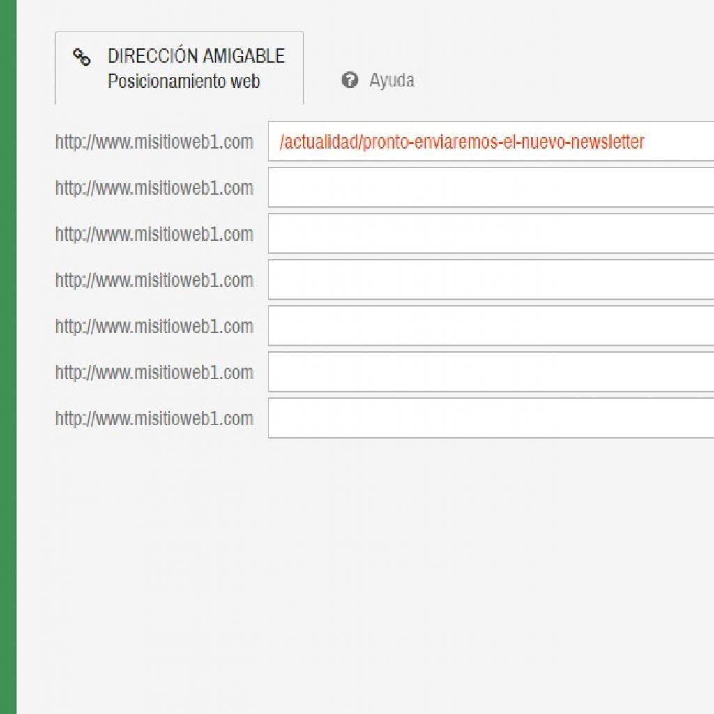Constructor de direcciones amigables para posicionamiento web