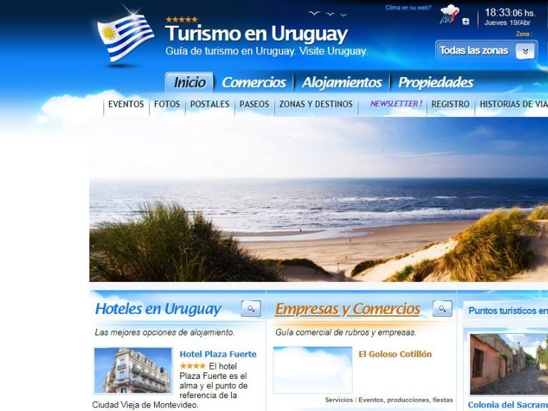 Portal de Turismo y servicios en Uruguay