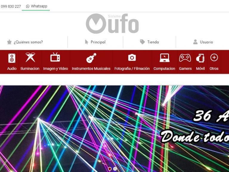 36 años de experiencia en Audio, Iluminación e instrumentos profesionales. - Sistema Ufo