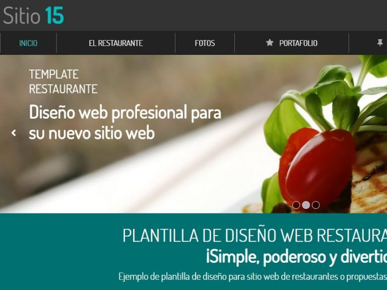 Demo de diseño web profesional para restaurante. Template 15. - RESTAURANTE 15 . Diseño sitio web institucional