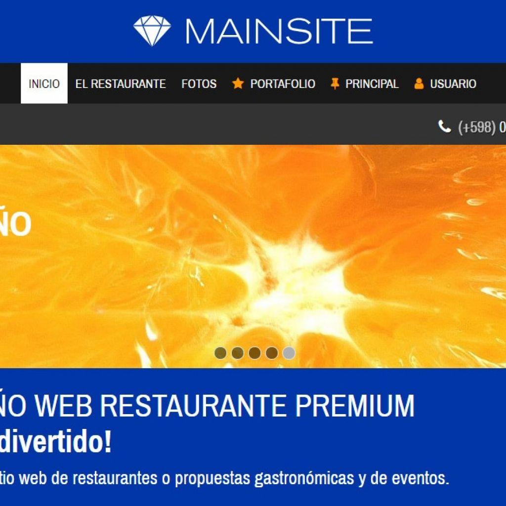 Diseño de sitio web para restaurante y presentación de menú.