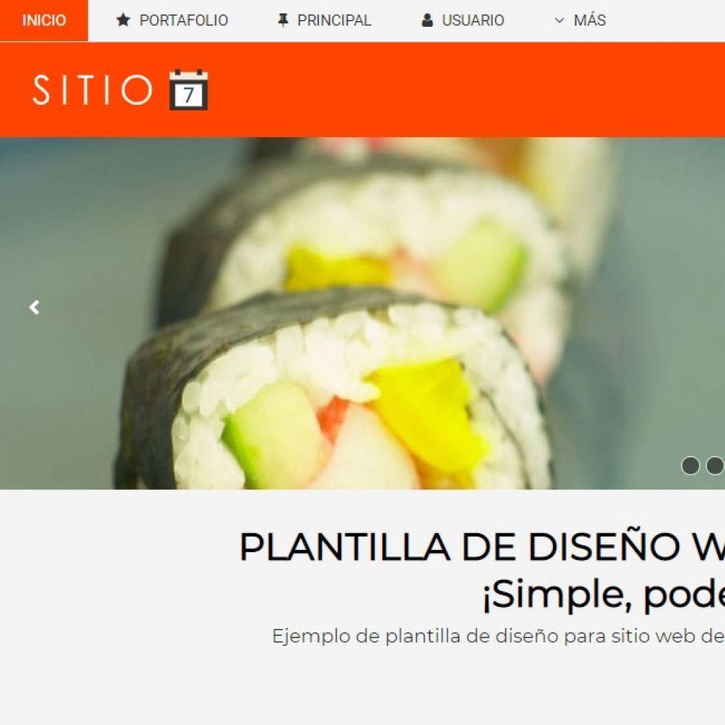 Diseño página web restaurante demo.