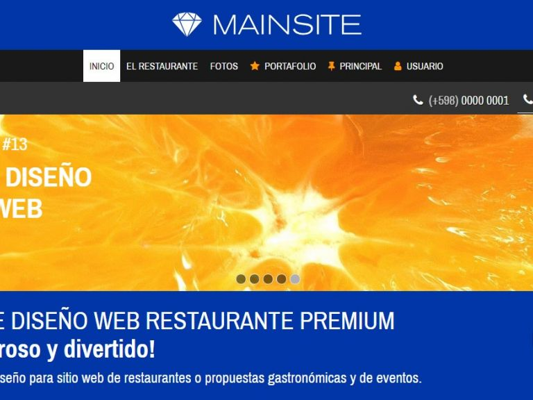 Ejemplo demo de página web para hotel alojamiento. - HOTEL 13 . Diseño sitio web institucional