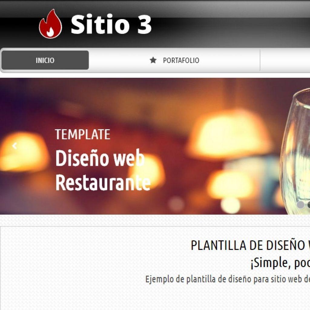 Opción de diseño de sitio web para Restaurante.