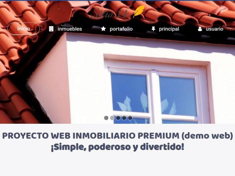 Template diseño web inmobiliaria online. - DEMO 14 . Sitio web inmobiliaria